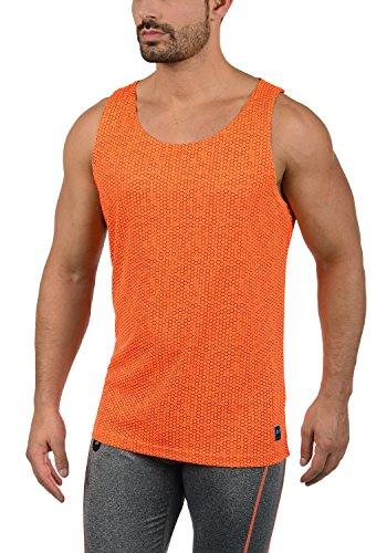 BLEND ATHLETICS Takumi Herren Tank-Top Muskelshirt Fitness-Shirt Rundhalsausschnitt Aus Hochwertigem und funktionellem Material, Größe:L, Farbe:Orange Clown (72837) (Top, Tank Athletic Farbe)