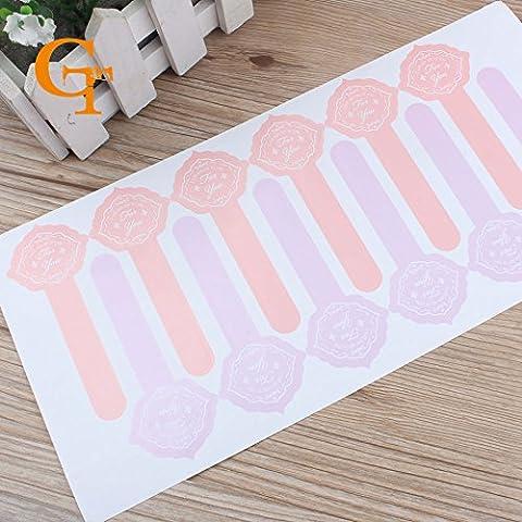 """Nuova forma speciale carta rosa """"per voi"""" adesivi di imballaggio bottiglie / sacchetti regalo, cibo tenuta favori della festa nuziale per voi adesivi"""