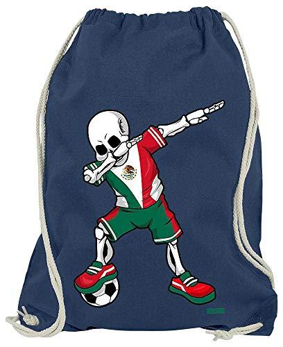 HARIZ Turnbeutel Fussball Dab Skelett Mexiko Land Trikot Plus Geschenkkarten Navy Blau One Size -