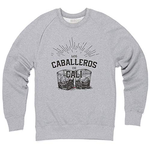 Caballeros De Cali Sweatshirt mit Rundhals, Herren, Grau meliert, L ()