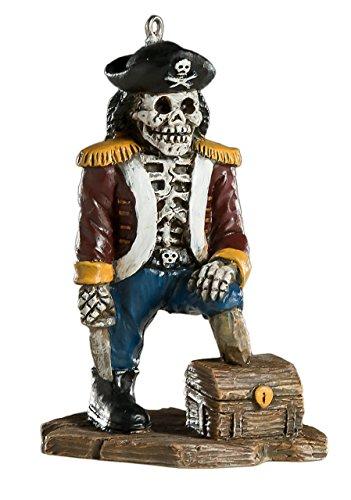 HorrorNaments Skelett-Piraten-Ornament - Gruselige Requisite und Dekoration für Halloween, Weihnachten, Partys und Veranstaltungen
