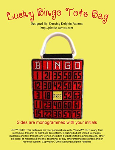 Lucky Bingo Tote Bag: Plastic Canvas Pattern (English Edition) -