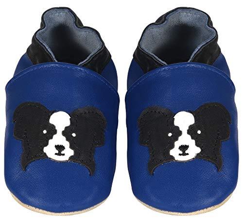 Pompöös - Zapatos para los Primeros Pasos, Perro Azul - Talla 24/25