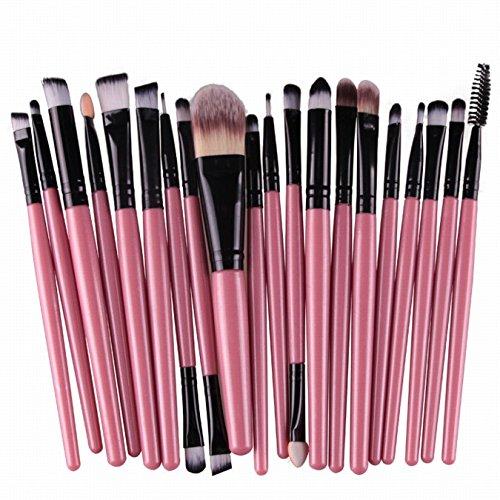 20 Pièces Visage Maquillage Brosse Cosmétiques Fard à Paupières Lèvres Eyeliner Brush Set