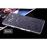 Heartly Sparking Crystal Diamond Protective Film Whole Body Phone Skin Sticker For Samsung Galaxy On8 / Samsung Galaxy J7 (2016) - Greyish Black