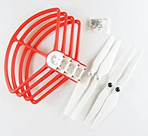 Rantow Quick Release Propeller Guard and 9450 Propellers Combo, 4 Pieces Blades Protector Propeller Bumper + 4 Pieces Self-Locking Blades for DJI Phantom 3 2 Vision Vision+ Plus