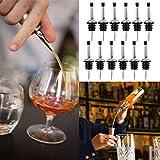 Flaschenausgießer aus Edelstahl, klassisch, konisch, auslaufsicher, mit Deckel für Bars, Restaurants, Zuhause