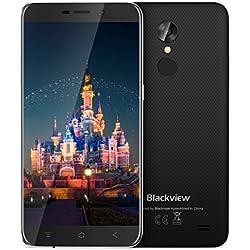 "Blackview Móviles Libre, A10 Móviles Dual SIM 3G Android 7.0 Smartphone, 5,0"" HD Quad-Core - 2GB RAM + 16GB ROM,2.0MP+5.0MP,2800mAh Smartphone Barato-Negro"