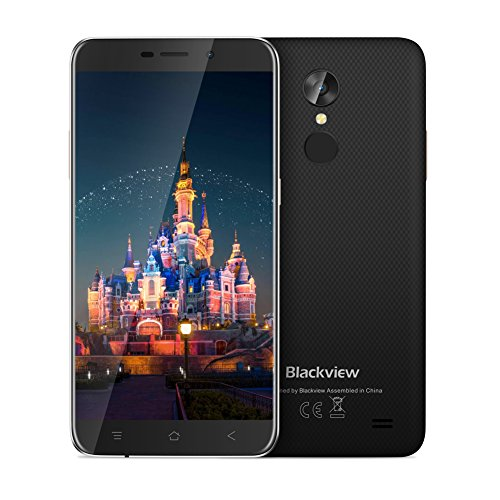 Blackview A10, Smartphone de 5.0' (3G, Dual SIM 16GB ROM, 2GB RAM, 2800mAh, 2.0MP+5.0MP, WiFi, Bluetooth, Android 7.0 Moviles Libres