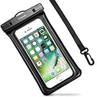 Universal Waterproof Case, Simpeak Dry Bag Pouch, IPX8 Certified to 100 Feet, Touch Responsive Transparent Windows, Neck Strap for Smartphones for Boating/Hiking/Swimming/Diving