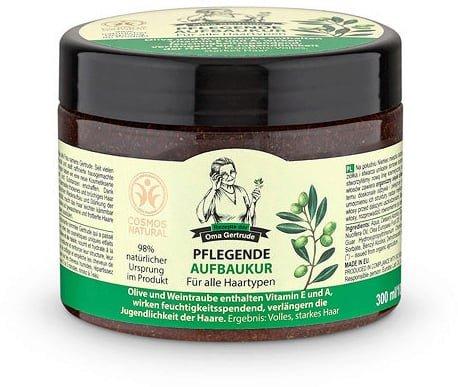 REZEPTE DER OMA GERTRUDE - Masque Restructurant - Soin nourrissant - Cheveux Secs et Abîmés - Régénérante - Riche en Vitamines et Acides Aminés - Plus de Douceur et d'élasticité - 300