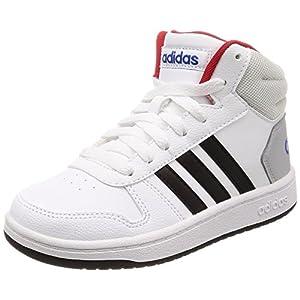 adidas Unisex-Kinder Hoops MID 2.0 Fitnessschuhe, Weiß (Ftwbla/Negbas/Escarl 000), 37 1/3 EU