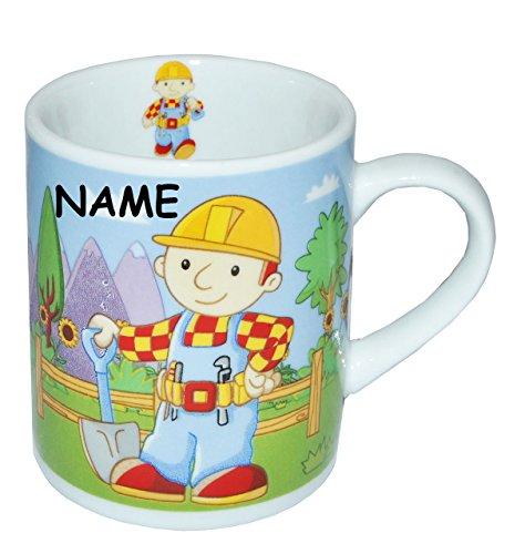Henkeltasse-klein-Bob-der-Baumeister-Porzellan-Keramik-incl-Namen-Trinktasse-mit-Henkel-Tasse-Espressotasse-Becher-Porzellantasse-Espresso-Tassen-fr-Kinder-Jungen-Baustelle-Auto-Baggi