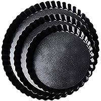 Zyurong Juego de 3 moldes de Horno antiadherentes para Pizza, Base Suelta, 15,2 cm, 20,3 cm, 22,8 cm
