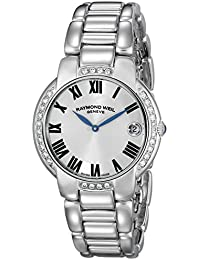 Raymond Weil Jasmine Stainless Steel & Diamond Womens Luxury Watch Calendar 5235-STS-01659