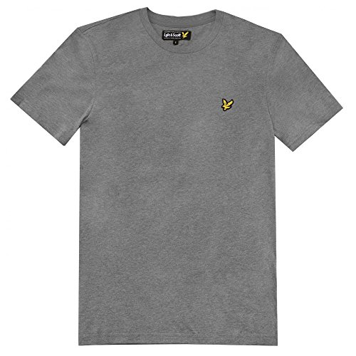 Lyle and Scott Short Sleeve Crew Neck T-Shirt Grey Marl