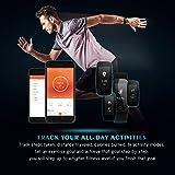 【Neue Version】Fitness Tracker, Mpow Bluetooth 4.0 Smart Fitness Armbänder mit Pulsmesser IP67 Wasserdicht Aktivitätstracker Schrittzähler 0.96''OLED Herzfrequenzmesser Pulsuhr für Android iOS wie iPhone 7/7 Plus/6S/6/5/5S, Samsung S8/S7, Huawei, LG, Sony, schwarz(USB Anschluss direkt laden) - 4