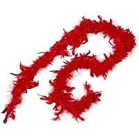 SODIAL(R)2m Boas De Pluma Mullido Para Fiesta De La Boda Para Traje De Vestido Arte De Decoracion Para El Hogar (Rojo)
