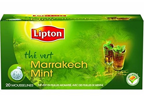 Exceptionnel Lipton Thé Vert Marrakech Mint 20 Sachets 40 g OH92