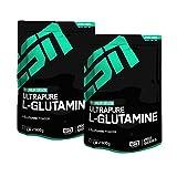 ESN Ultrapure L-Glutamine Powder, Pro Series, Doppel Pack (2 x 500g Beutel)
