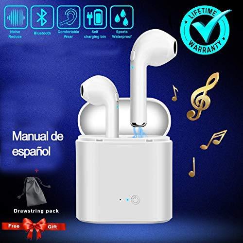 PANDOO Eearphone Bluetooth Cuffie Senza Fili Cuffie Stereo Sport Auricolari a cancellazione di Rumore Compatibile con Tutti i cellulari Cellulare