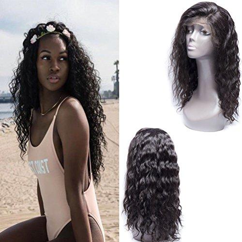 Maxine 8 A L'EAU Wave Perruque lace front Densité de 130% brésilienne Remy Cheveux humains des Perruques réglable avec cheveux de bébé pour femme noire