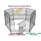 Dog Cage Play Pen-Fence for Small Pups, Rabbit and Guinea Pigs