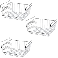 3X Lado (SI K1019) Under Shelf Storage Basket   30 Cm   Stainless