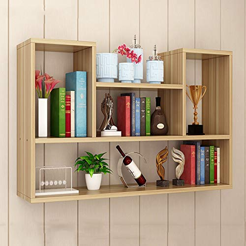 ZHIRONG 3 Schichten Wandregale Bücherregal Tier Floating Book Storage Hängende Rack Organizer Einheit Racking Regal 100 * 10 * 75CM (Farbe : Holzfarbe) -