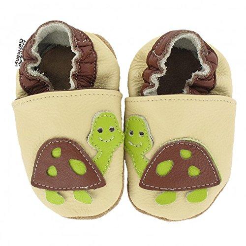 Krabbelschuhe Babyschuhe mit Tieren von HOBEA-Germany, Schuhgröße:16/17 (0-6 Monate), Modell Schuhe:Schildkröte