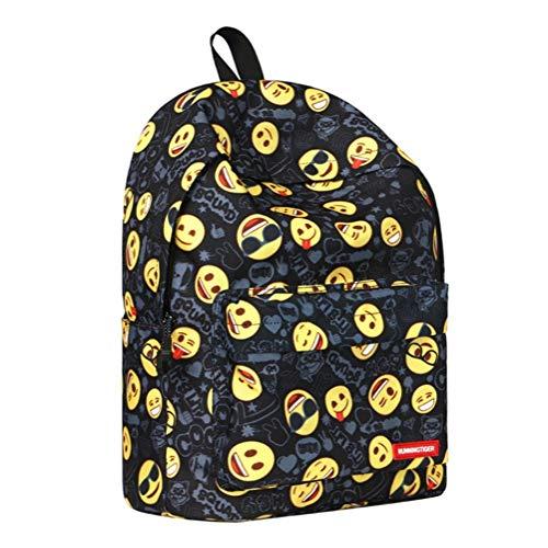 Schülerrucksack for Mädchen Teen Bookbag Casual Leichte Schultasche Set Graffiti-Muster Junge Tasche Passt 14-Zoll-Laptop for Studententasche PNYGJIBB (Color : D, Size : 40 * 17 * 30cm) (Bookbags Jansport Für Jungen)