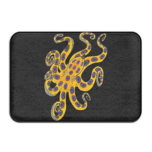 Non Slip Door Mat Outdoor,Indoor/Outdoor Decorative Washable Garden Office Door Mat with Non Slip Backing Blue Ringed Octopus Non Slip Entrance Door Mats Shoe Scraper Rug (Star Wars Auto-fußmatten)