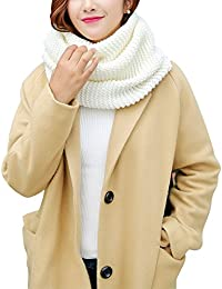 iShine Mode Echarpe Tricoté Tube Foulard Tubulaire Echarpe en Tour au Cou  pour Femme Fille Cache-col Unicolore… 45a6e3e0cf0