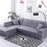 Elastisch Sofa Überwürfe Sofabezug, Morbuy Ecksofa L Form Stretch Antirutsch Armlehnen Sofahusse...