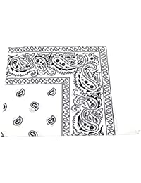Bandana White Paisley Head/Neck Scarf