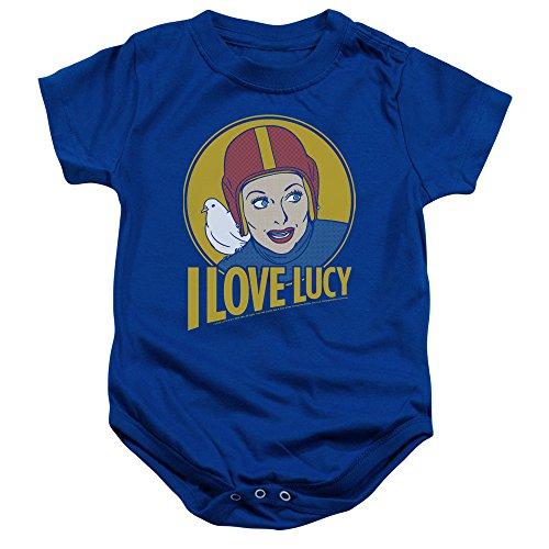 I Love Lucy - - Toddler Lb de Super Comic Onesie, 6 Months, Royal Blue