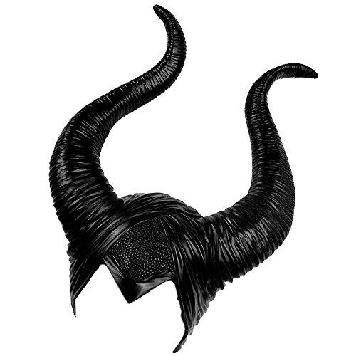 Kostüm Kinder Maleficent' Für (Enjoygoeu Halloween Deko Kostüm Maleficent Hörner Hut Kopfbedeckung Kopfschmuck Frauen Party Cosplay Verkleidung Devil Teufel)