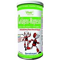 Vive+ Colágeno + Magnesio, Ácido Hialurónico y Vitamina C - 2 Paquetes de 200 gr