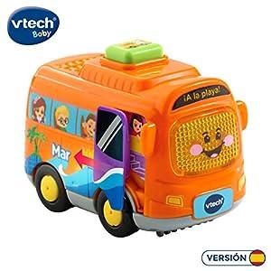 VTech- Mar el autocar TutTut Bólidos Vehículo Interactivo con Voz, música y Efectos de Sonido, Incluye botón Sorpresa, Multicolor (80-516722)