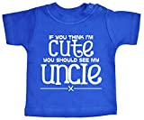 Best Uncle Shirt For Kids - IiE, If you think I'm Cute you should Review