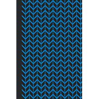 Sketchbook: Geometric Design (Chevron/Blue) 6x9 - BLANK JOURNAL WITH NO LINES - Journal notebook with unlined pages for drawing and writing on blank paper