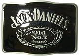 JACK DANIEL'S RECTANGLE OLD NO.7 Brand Offiziell Lizenzierte Gürtelschnalle + Präsentierständer