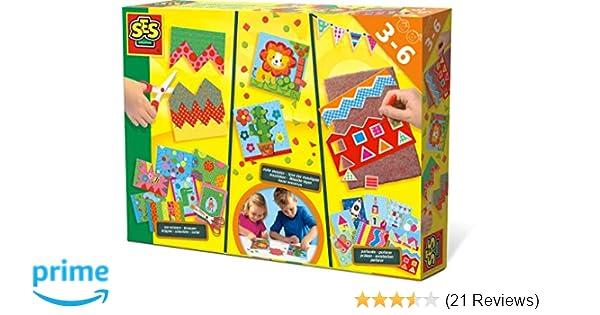 SES Creative Kinder Edukative Sets Ich lerne Schneiden Mosaike legen Prickeln
