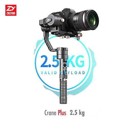Zhiyun Trois Axes Smooth-q Noire Pour Smartphones Comme L'iphone Du Cardan Portatifs Stabilisateur, Samsung.Huawei Et Gopro Héros 5 / 4 / 3 De Commande Sans Fil (Crane Plus)