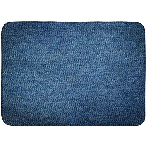 Blank Denim-denim (miyvn Bodenmatte Blank Denim von Blue Jeans Close Up Indigo Canvas Badezimmer Dekor Teppich 40X60cm)