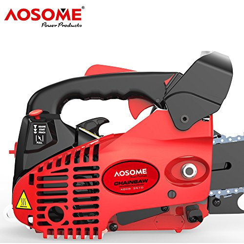 AOSOME 26CC Petrol Top Handle Topping Chainsaw 10 inch + 2 x Chains – Carry Bag