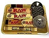 RAW Set per fumatori con mini vassoio, cartine, filtri e tappetino, set regalo ideale per voi o i vostri cari
