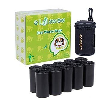 Lalawow® Sacs à Déjections 200 Pcs pour Chien Chat Avec Distributeur et Clip de Fixation