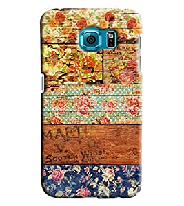 Blue Throat Mat Painted Wooden Design Printed Designer Back Cover For Samsung Galaxy S7 Edge