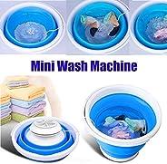 MDWK Mini machine à laver portable avec laveuse à turbine à ultrasons automatique alimentée par USB pour le vo